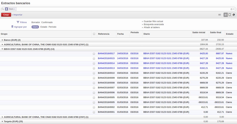 Formato Extracto Bancario En Excel Awesome Importar Extractos Bancarios Con La norma 43 En Odoo Odoo