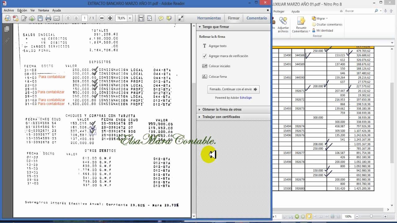 Formato Extracto Bancario En Excel Beautiful 62 Conciliación Bancaria Ejemplo Práctico Video 1 De 2
