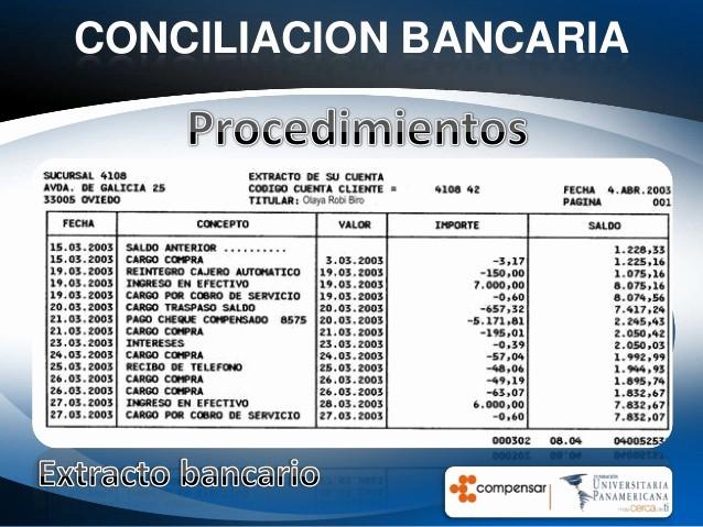 Formato Extracto Bancario En Excel Fresh Conciliacion Bancaria