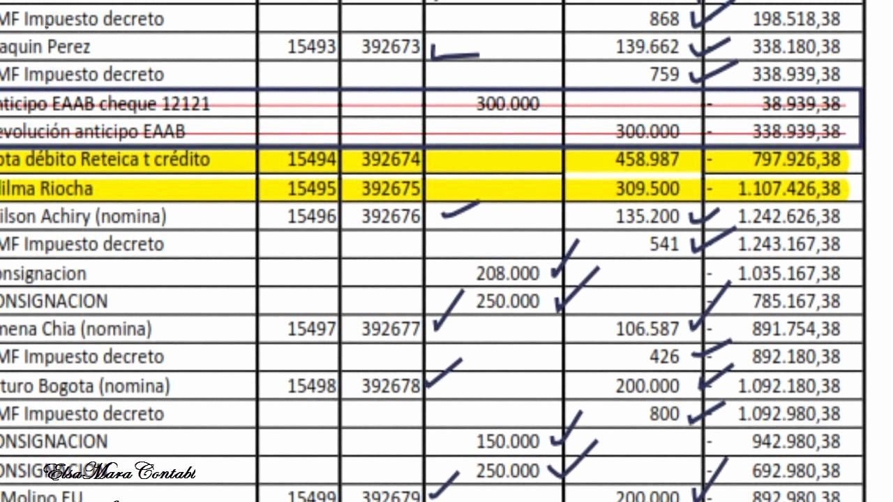 Formato Extracto Bancario En Excel Luxury 63 Conciliación Bancaria Ejemplo Práctico Video 2 De 2