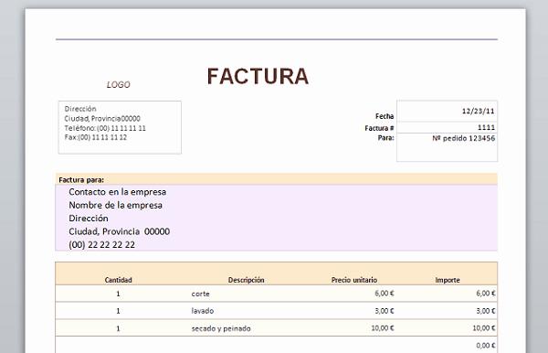 Formato Factura Regimen Simplificado Excel Awesome Aqu Tienes 20 Plantillas Para Hacer Facturas En Word