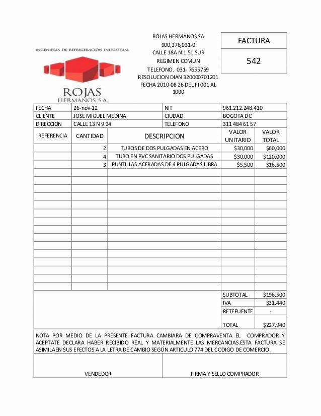 Formato Factura Regimen Simplificado Excel Luxury Excel