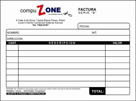 Formato Factura Regimen Simplificado Excel Luxury Factura