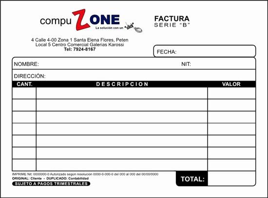 Formato Factura Regimen Simplificado Excel Luxury Factura