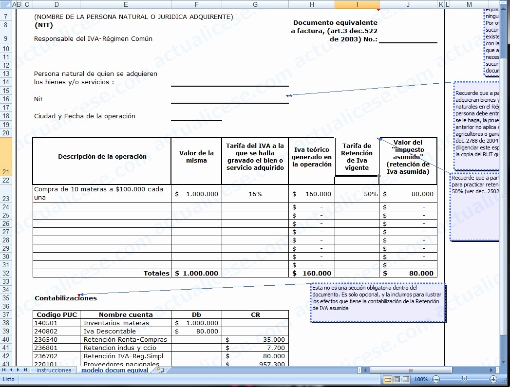 Formato Factura Regimen Simplificado Excel Luxury Facturas