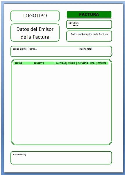 Formato Factura Regimen Simplificado Excel Luxury formato De Factura Excel formato Factura Electronica