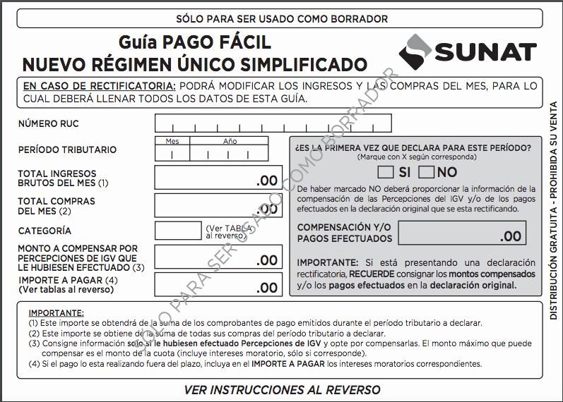 Formato Factura Regimen Simplificado Excel New Régimen Único Simplificado [actualización 2017