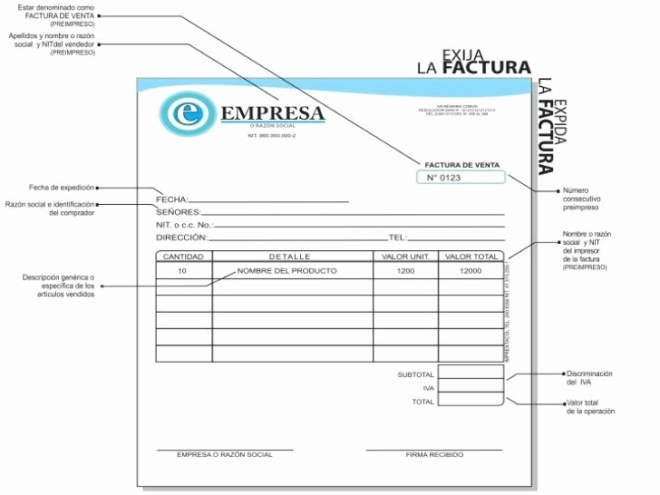 Formato Factura Regimen Simplificado Excel Unique Factura Cambiaria