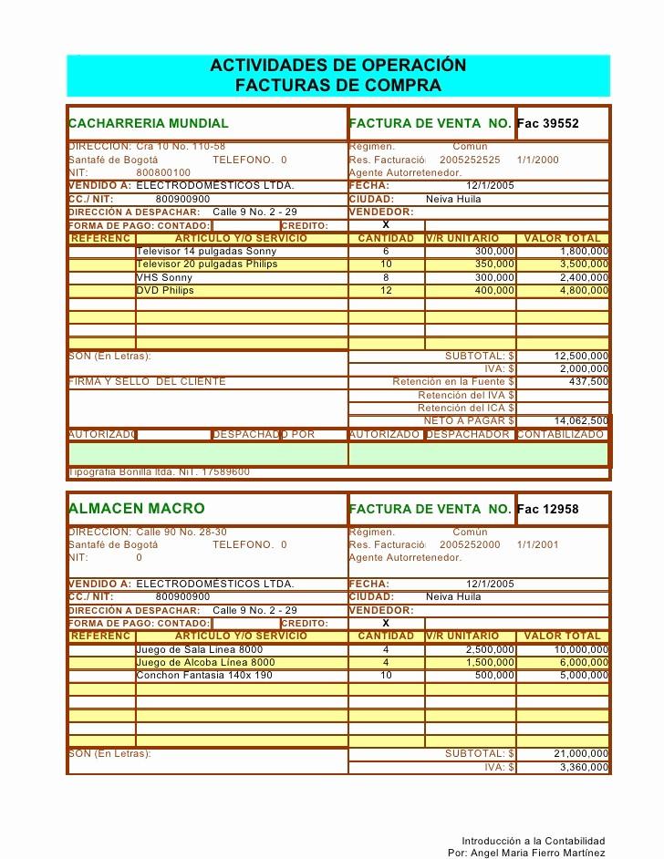 Formato Factura Regimen Simplificado Excel Unique Facturas En Excel 2