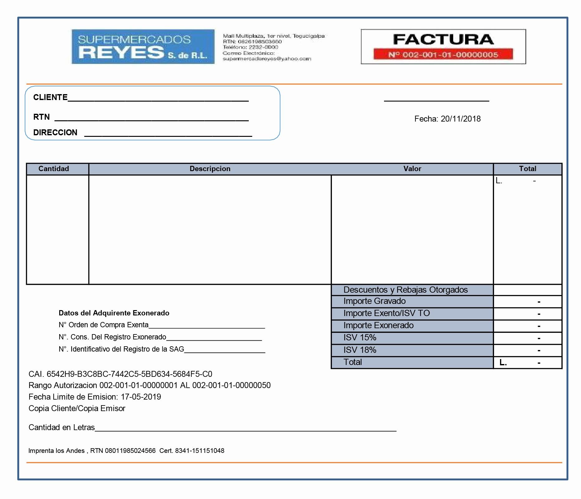Formato Factura Regimen Simplificado Excel Unique formato De Factura 01 El Periódico Honduras