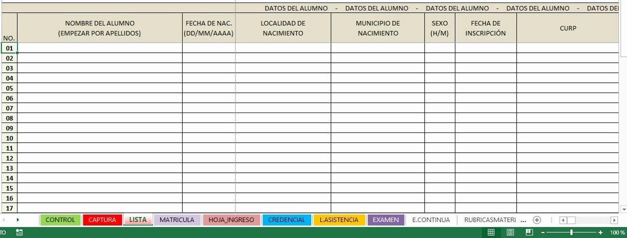 Formato Lista De asistencia Escolar Best Of David De La Cruz López Control De Alumnos Lista De