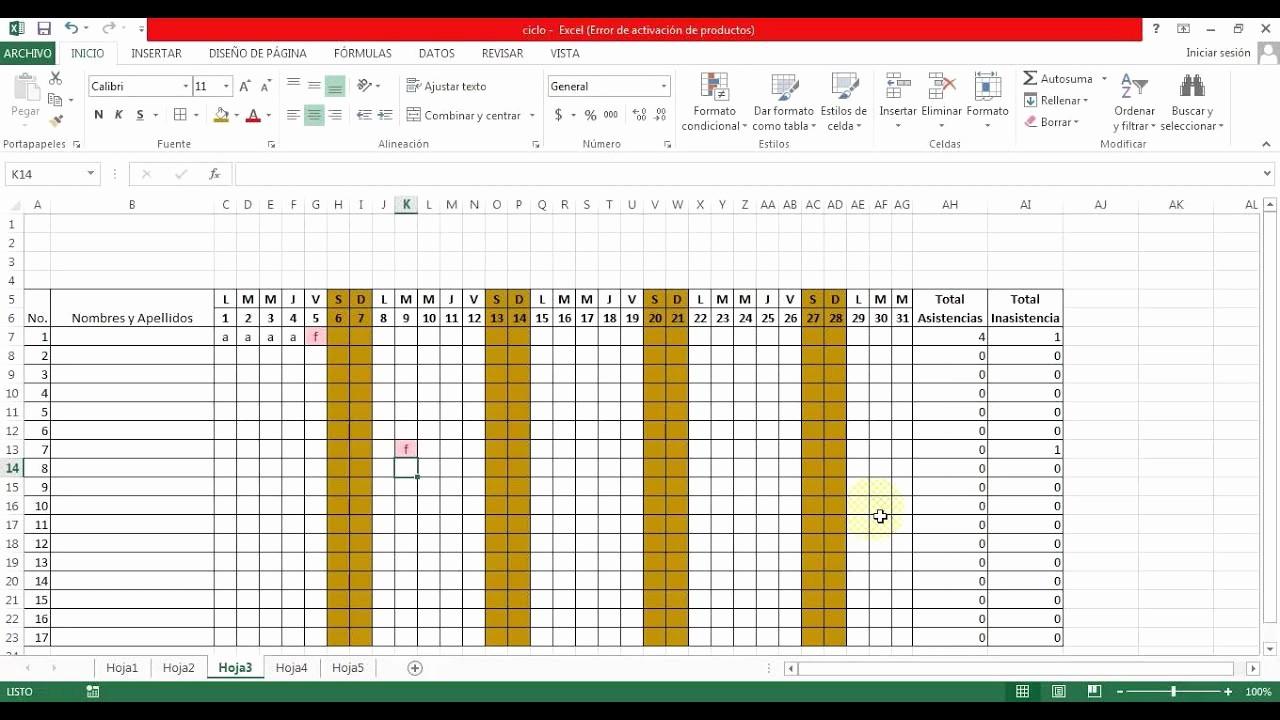 Formato Lista De asistencia Escolar Best Of Listas De asistencia Y Planilla De Notas En Excel