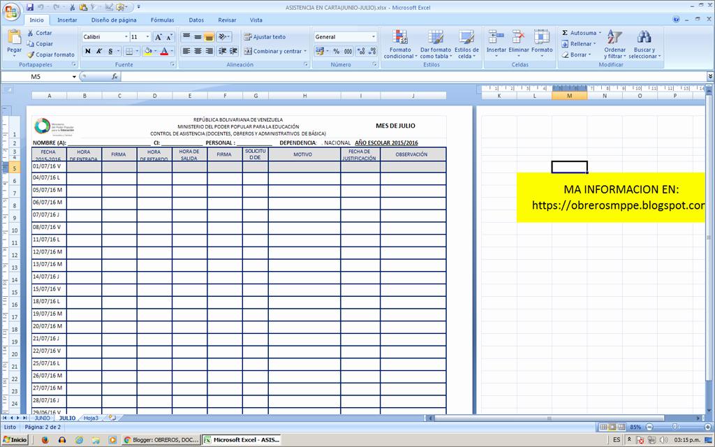 Formato Lista De asistencia Escolar Elegant Para Optimizar Dicho Proceso Adjunto Se Presenta El