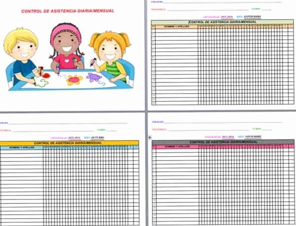 Formato Lista De asistencia Escolar Fresh Los Mejores Registros De Control De asistencia De Alumnos