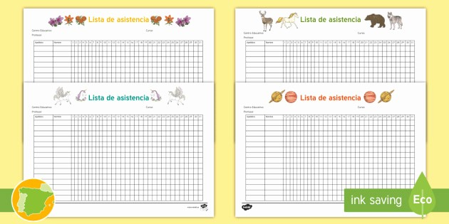 Formato Lista De asistencia Escolar Inspirational asistencia Preescolar T
