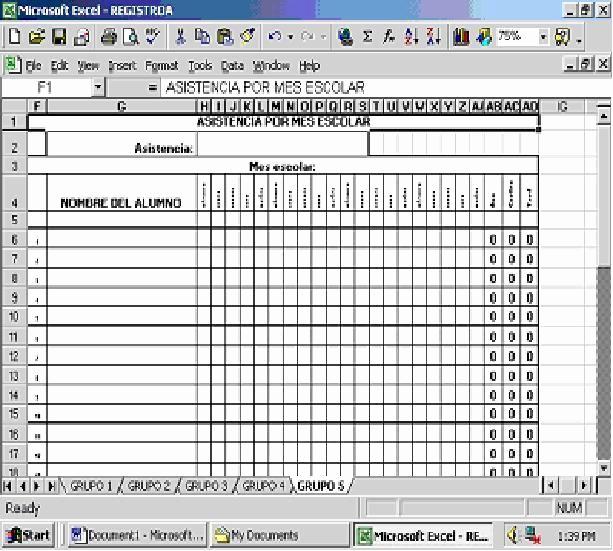 Formato Lista De asistencia Escolar New asistencia Por Mes Escolar