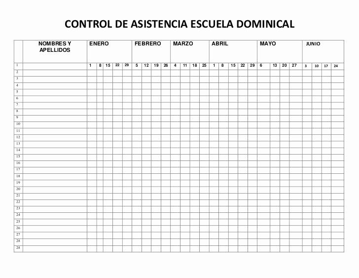Formato Para asistencia De Alumnos Awesome Control De asistencia Escuela Dominical Buscar Con