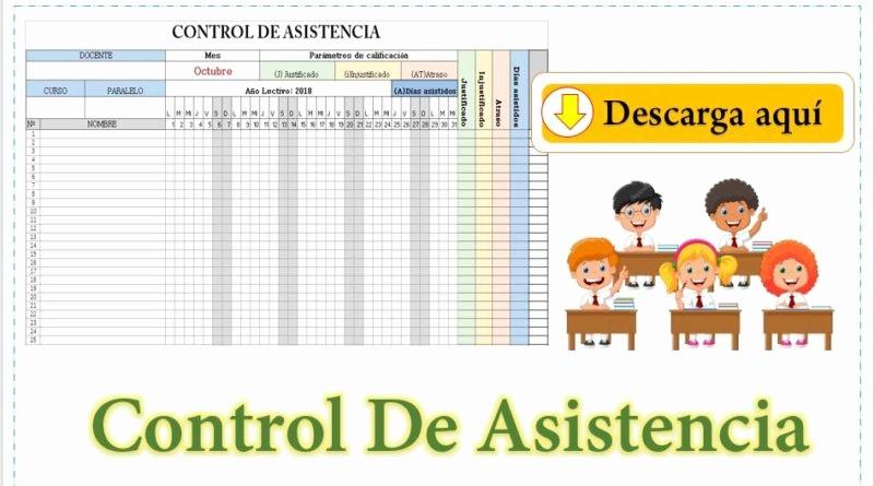Formato Para asistencia De Alumnos Best Of formato De Control De asistencia De Alumnos Editable