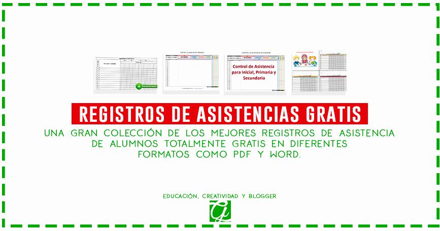 Formato Para asistencia De Alumnos Inspirational Los Mejores Registros De Control De asistencia De Alumnos
