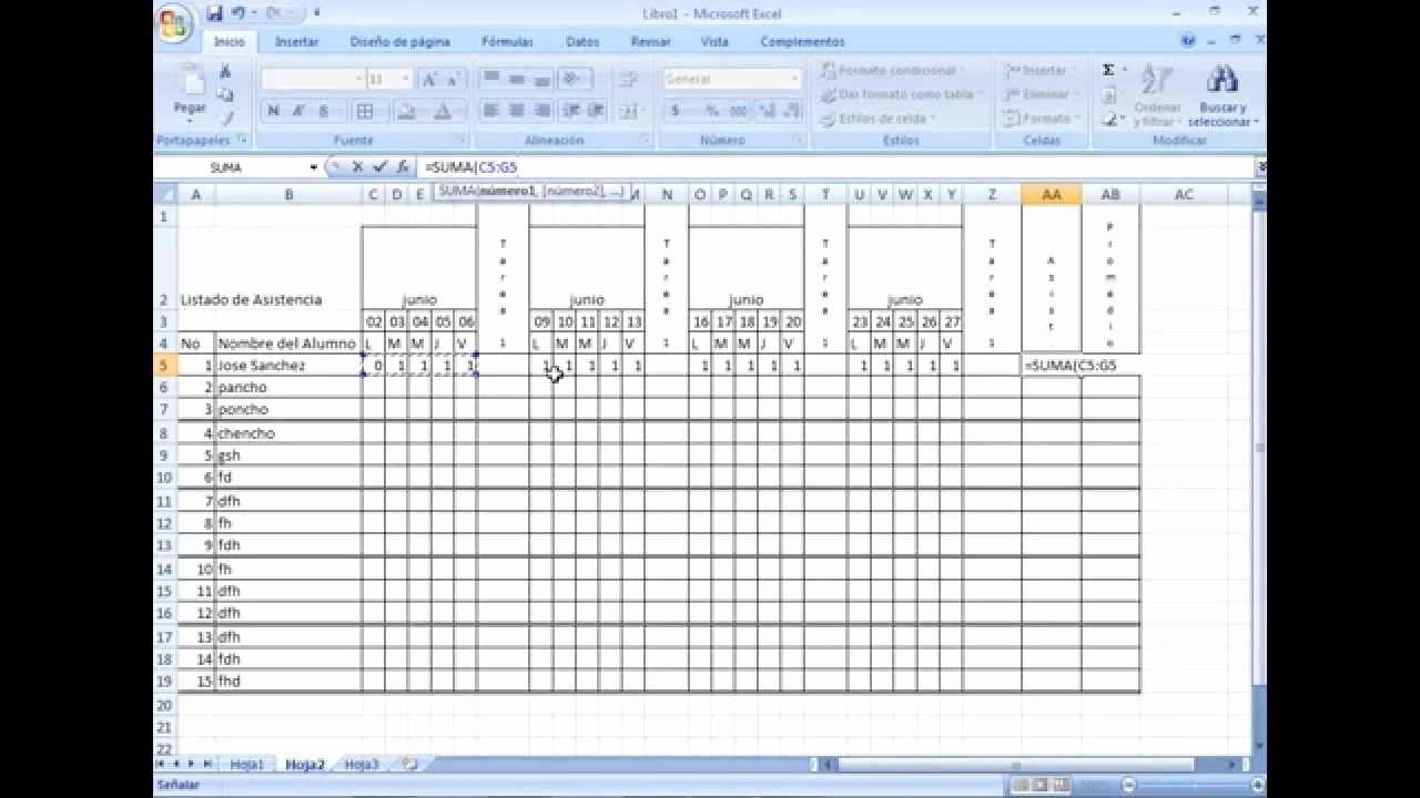 Formato Para asistencia De Alumnos Luxury formato De asistencia En Excel