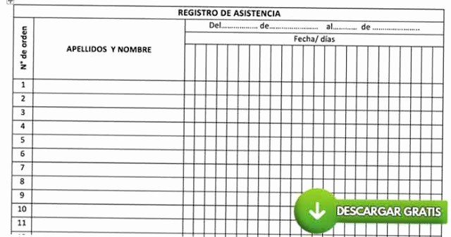 Formato Para asistencia De Alumnos New Los Mejores Registros De Control De asistencia De Alumnos