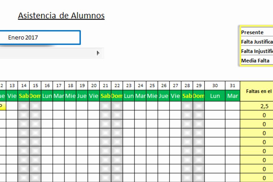 Formato Para asistencia De Alumnos Unique Registro De asistencia De Alumnos En Excel Planillaexcel