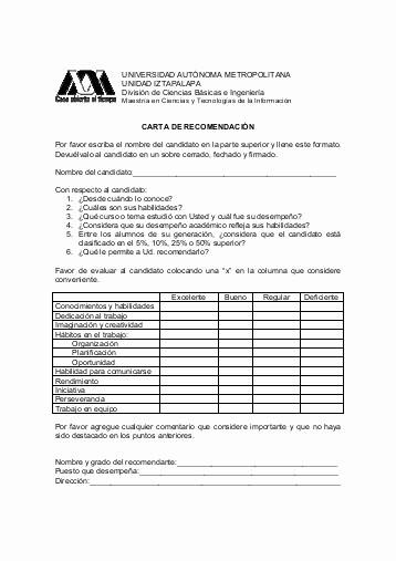 Formato Para Carta De Recomendacion Awesome formato De Carta De Re Endación Colegio Bolivar