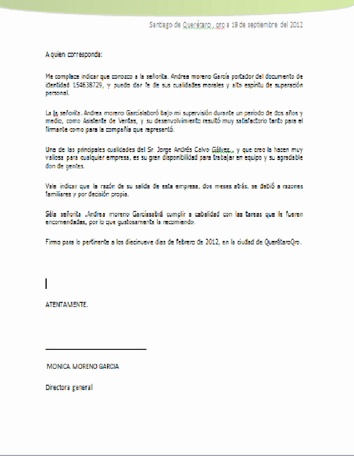 Formato Para Carta De Recomendacion Elegant Carta De Re Endacion Personal Word Wood Scribd Mexico