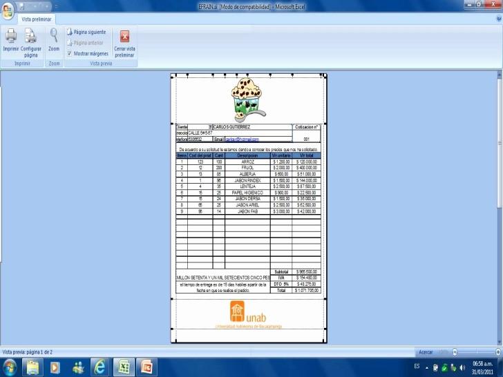 Formato Para Cotizaciones En Excel Best Of Hoja De Excel Cotizaciones