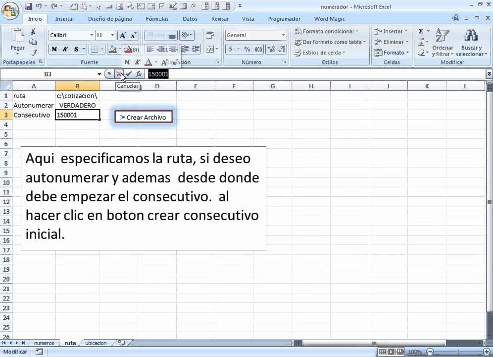 Formato Para Cotizaciones En Excel New Numerar Numeracion De Facturas Cotizaciones Remisiones