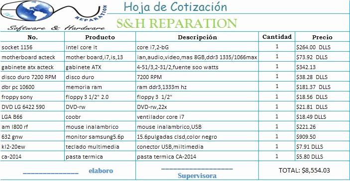 Formato Para Cotizaciones En Excel New Weeriinguiiss Hoja De Cotizacion 1
