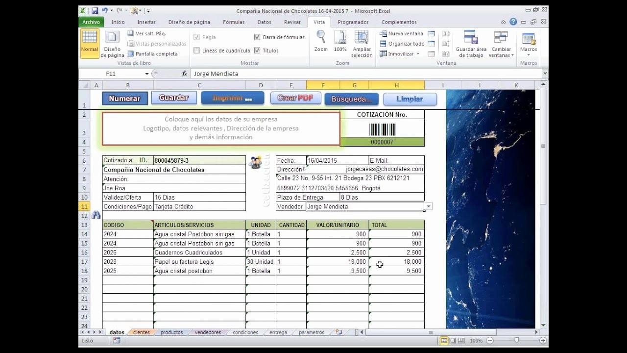 Formato Para Cotizaciones En Excel Unique Elabore Cotizaciones Automáticas Usando Excel Sin