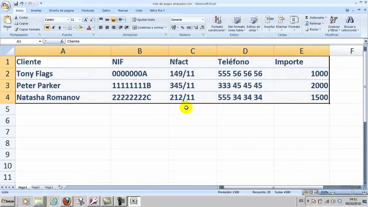 Formato Para Cotizar En Excel Lovely Imática Excel 01 Crear Una Hoja De Cálculo Simple