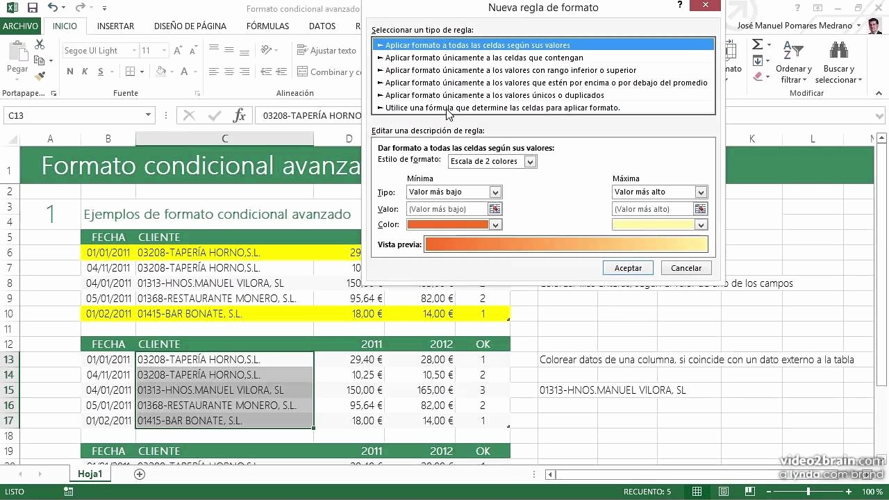 Formato Para Cotizar En Excel New 11 formato Condicional Avanzado De Excel