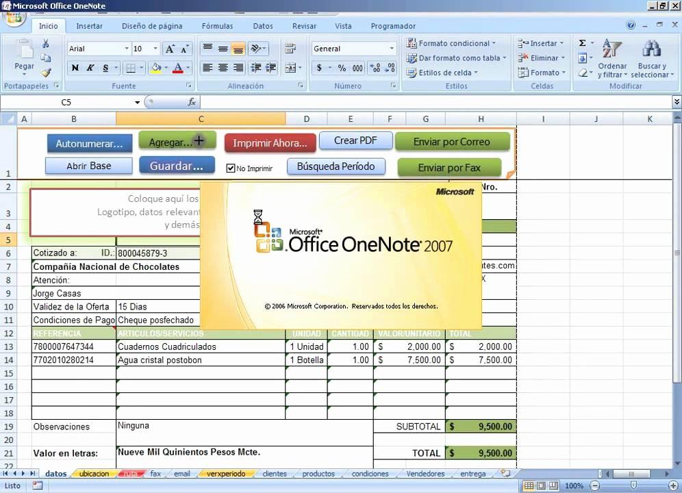 Formato Para Cotizar En Excel New Cotizaciones Al Vuelo Con Excel Crea Pdf Envia Por Mail O