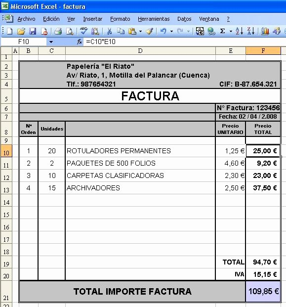Formato Para Facturas En Excel Awesome Canarlab Facturar Con Excel Vs Facturago