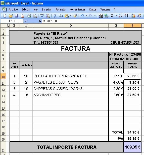 Formato Para Facturas En Excel Awesome Canarlab Facturar Con Excel Vs Facturago