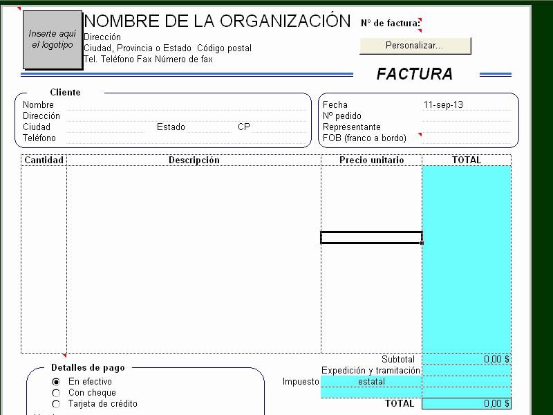 Formato Para Facturas En Excel Awesome formatos De Factura En Excel Continuacinlas