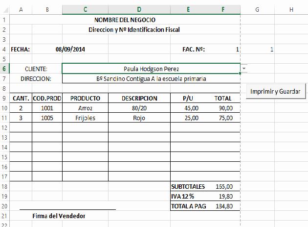 Formato Para Facturas En Excel Awesome O Crear Tu Sistema De Facturación En Excel 2 — Blog