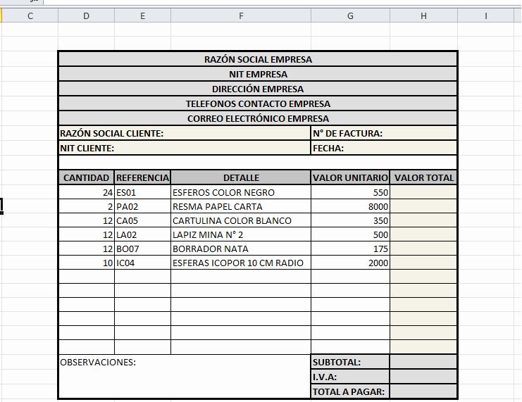 Formato Para Facturas En Excel Fresh InformÁtica Y TecnologÍa Colegio La Estancia San isidro