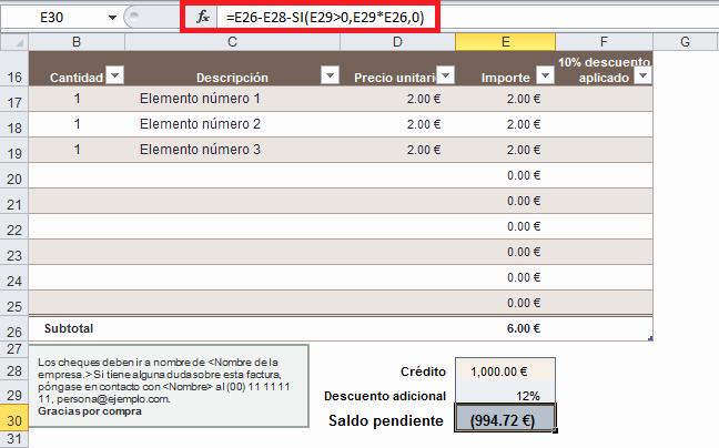 Formato Para Facturas En Excel Fresh Plantilla De Factura En Excel • Excel total