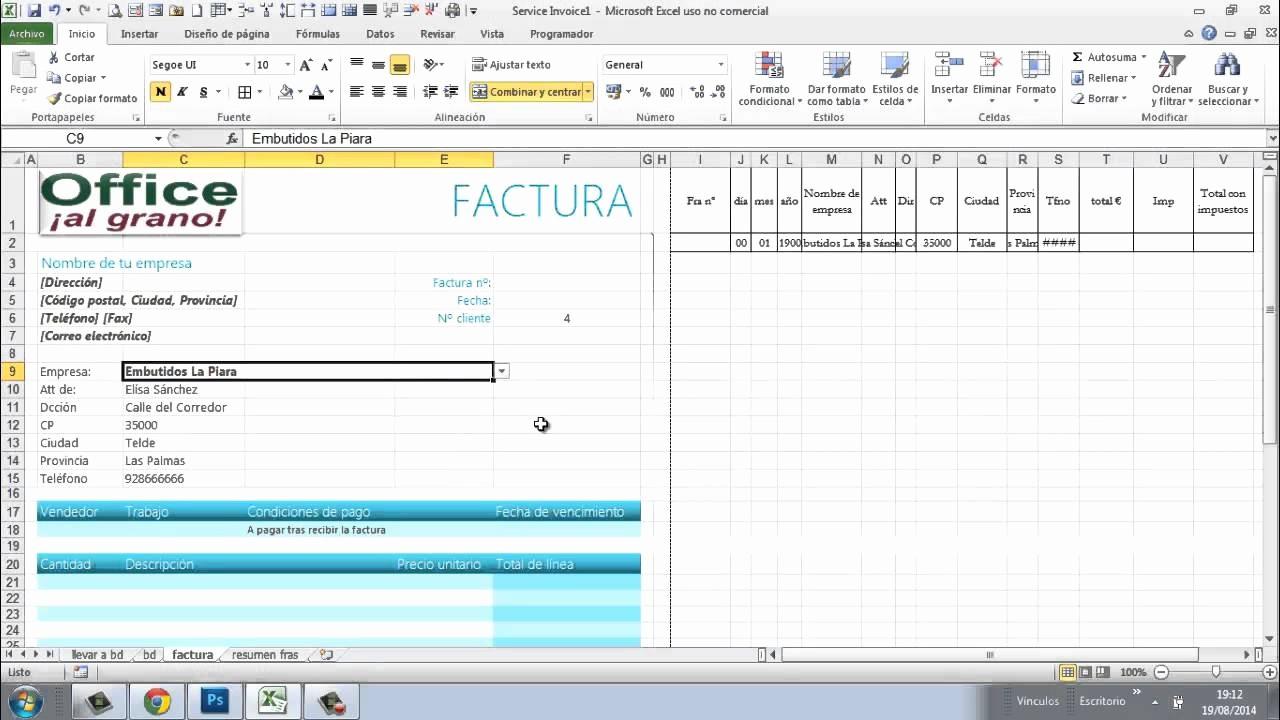 Formato Para Facturas En Excel Inspirational Haz Las Facturas A Tus Clientes Desde Una Base De Datos 3