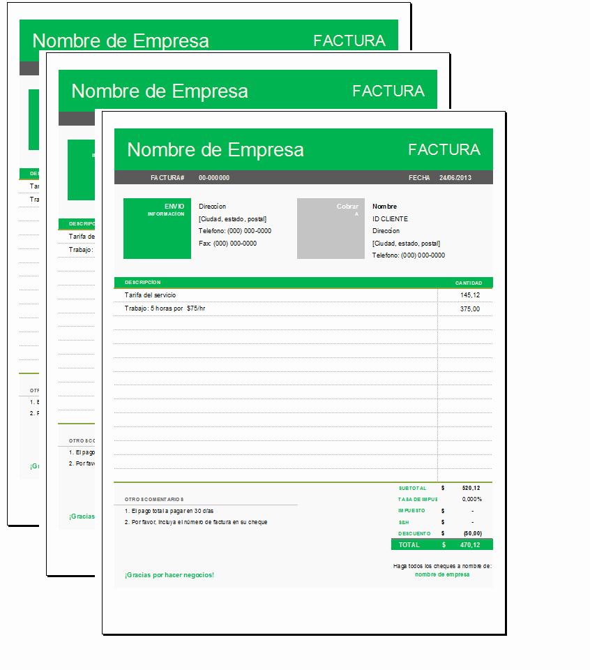 Formato Para Facturas En Excel Luxury formato De Factura Simple Con Excel Sistemas Web