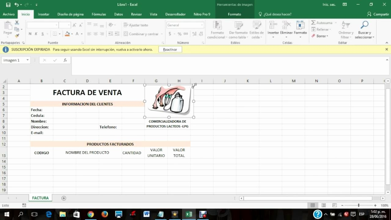 Formato Para Facturas En Excel New Video Tutorial Para Hacer Una Factura En Excel 2016
