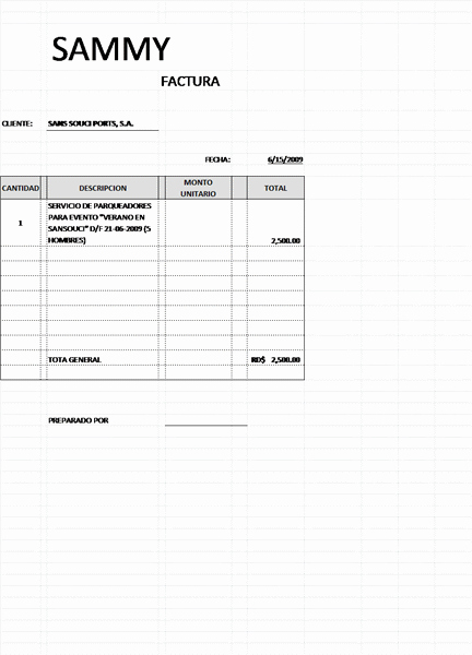 Formato Para Facturas En Excel Unique Facturas Fice