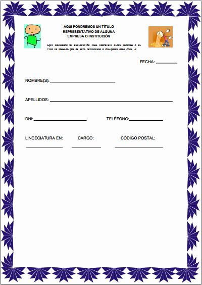 Formato Para Hacer Gafetes Word Best Of Fpdf Llenar formatos Diseño 2 3