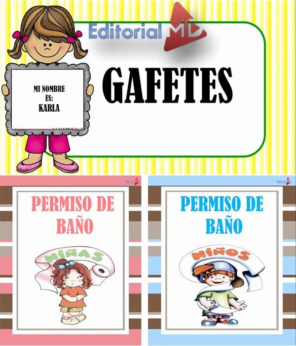 Formato Para Hacer Gafetes Word Elegant Gafetes Escolares