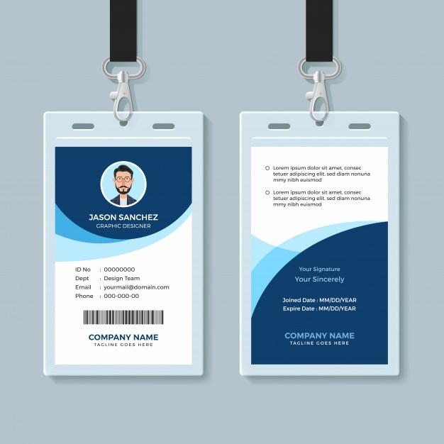 Formato Para Hacer Gafetes Word Elegant Plantilla De Diseño De Tarjeta De Identificación De