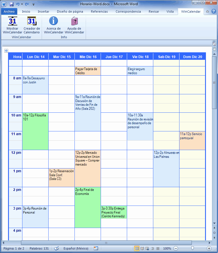 Formato Para Horarios De Trabajo Best Of Creador De Calendario Con Das Feriados Para Microsoft Word