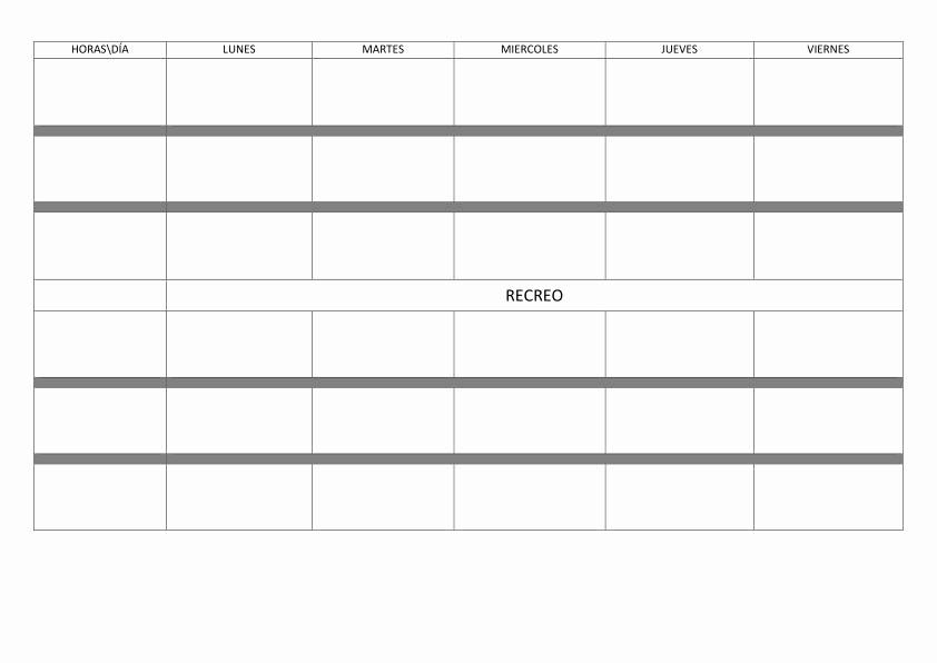 Formato Para Horarios De Trabajo Best Of Horarios Calendarios Y Memonotas orientacion andujar